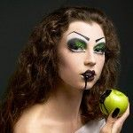Eve and the apple makeup.