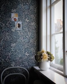 """Boråstapeter on Instagram: """"Our Nocturne wallpaper captured in this beautiful light by @whatdecoratesmyday . . . Product: Nocturne 6331 #Boråstapeter #borastapeter…"""""""