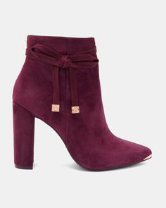 9e0ba13c1bfd Shop the suede bow detail ankle boots with 30% off in Ted Baker s Black  Friday