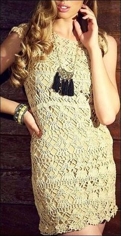 Todo crochet: Vestido de encaje rústico al crochet