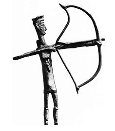 Sardinia, bronze sculpture representing warrior archer