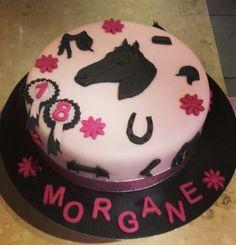 Gâteau thème cheval fourrage Nutella