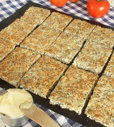 Kesobröd utan mjöl – Lindas Bakskola Lchf, Keto, Biscuit Cookies, Low Carb Bread, Shortbread, Crackers, Banana Bread, Biscuits, Food And Drink