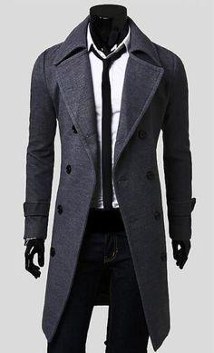 Mens Trench Coat 2018 New Fashion Designer Men Long Coat