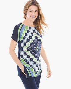 Zenergy Multi Scarf-Print Tunic