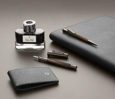 Graf von Faber-Castell - Tiefschwarze Eleganz: Die Black Edition Graf Von Faber Castell, Black Edition, Cufflinks, Writing, Accessories, Fashion, Moda, Fashion Styles, Fashion Illustrations