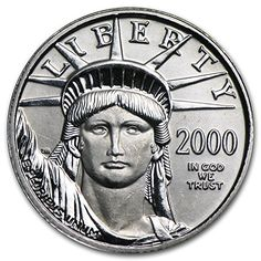 2000 1/10 oz Platinum American Eagle BU Issue Brilliant Uncirculated -- Click image to review more details.