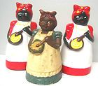 Vintage Aunt Jemima Collection figurine Salt n Pepper shakers Circa 1980's Kitchen decor $69.95 Free Shipping. Men and Women Fashions http://www.islandheat.com Home Goods and clothing Gift Idea's.