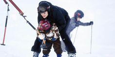 12/30/13 Crown Princess Victoria and Princess Estelle ski in Switzerland