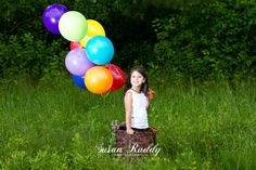 Hot air balloon photo shoot! Larger basket for older child though
