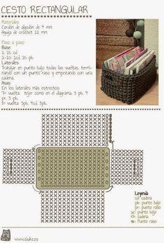Tecendo Artes em Crochet: Cesto Organizador Fofucho... e com Gráfico!
