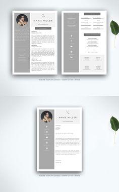 Resume Templates Indesign Custom Junior Resume  Cv Template Indesign Indd Ms Word A4  Resume  Cv .