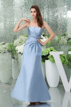 Sheath Floor length Sweetheart Satin Blue Mother Of The Bride Dress With Appliquess
