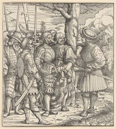 Artist: Burgkmair d. Ä., Hans, Title: »Der Weisskunig« The Skill of the White King Dealing with Different Nations in Wartime, Date: 1514-1516