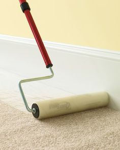 Safeguard your carpet against paint spills & drips with this handy little number. Check out this & other renovating tips via Martha Stewart