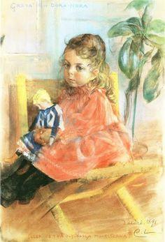 Greta And Dora Nora ~ Carl Larsson ~ (Swedish 1853-1919)