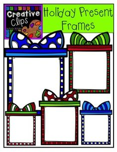Holiday Present Frames FREE