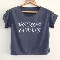 Crop Shirt the Story of My Life 1 Direction Shirt 1d Tunic One Direction Shirt Women's Clothing Size