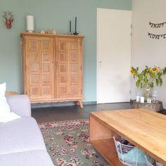 Net als in de aflevering van RTL Woonmagazine (16-04-2016) is ook in deze woonkamer de kleur Early Dew gebruikt. Wil je ook testen of dit de exacte kleur voor jouw muur is. Test dit dan met de Flexa Kleurtester, een tester met een geïntegreerd rolletje. Zo gedaan dus.