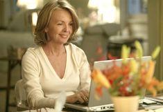 Diane Keaton (Erica Barry) en Cuando menos te lo esperas (Something's Gotta Give).