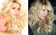 Jessica Simpson without makeup and photoshop! More pics like these at… Beauty Makeup, Hair Makeup, Weird Look, Celebrities Before And After, Celebrity Plastic Surgery, No Photoshop, Without Makeup, Makeup Transformation, Hair Art
