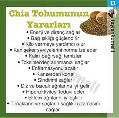 Chia tohumu Chia Recipe, Natural Health Remedies, Herbal Medicine, Herbalife, Raw Food Recipes, Beauty Secrets, Health And Beauty, Healthy Snacks, Detox