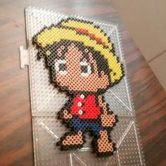 Chibi Luffy - One Piece perler beads by neko_scarlet