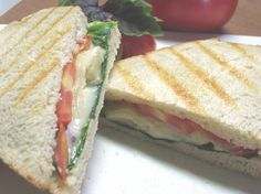 Four Cheese Panini With Basil Tomatoes from Food.com: Panini with 4 Italian cheeses and tomatoes with basil....grilled cheese will never be the same again!