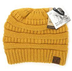 This CC beanie tail beanie allows you to wear your favorite head gear on a  cold a2236fa7e8fa