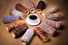 Enjoy coffee and chimney cake in the top cafe- located in Banjara Hills, Hyderabad. Enter the world of games with real-life adventure experience at Lock N Escape. Ice Cream Museum, Churros, Donut Ice Cream, Cake Oven, Chimney Cake, Homemade Waffles, Food Wishes, Frozen Meals, Holiday Appetizers