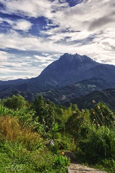 Mt Kinabalu, Sabah (Malaysia). 'It is the abode of the spirits, the highest  mountain in Malaysia, one of the  most dominant geographic features in North  Borneo,