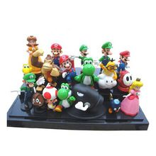 "Super mario bros 1 set 1""-2,5"" yoshi dinosaurus speelgoed figuur super mario yoshi action figure pvc retai(China (Mainland))"