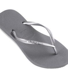 Havaianas Crystal Glamour Swarovski Silver Grey