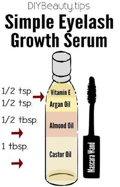Simple DIY Eyelash Growth Serum - 16 Must-Have DIY Beauty Recipes To Keep You Beautiful All Year Long
