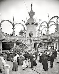 Helter Skelter Ride en Coney Island 1906 Looping de la montaña rusa en Coney Island .