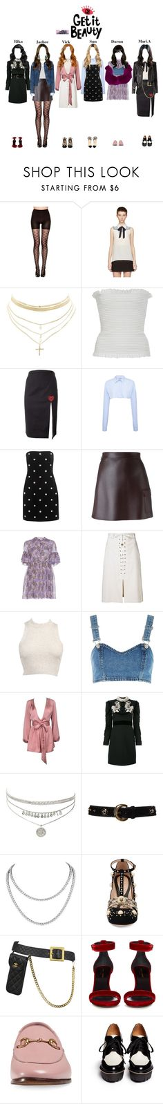 """""""StarZ at Get It Beauty"""" by starz-official ❤ liked on Polyvore featuring SPANX, Miu Miu, Charlotte Russe, Veronique Branquinho, Christopher Kane, Nina Ricci, Versus, MSGM, Sea, New York and Topshop"""