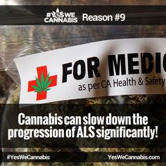 Slows down the progression of ALS! - http://ywc.ec/why9  #YesWeCannabis