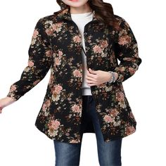 Folk Style Long Sleeve Quilted Cotton #Coat