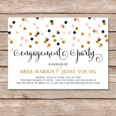 Modern engagement invitation / engagement party by paperhive
