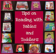 The Educators' Spin On It: Baby Time: Tips for Reading Books to an Active Baby or Toddler.visual site with helpful tips for encouraging literacy with the very young.Clear strategies and tips. Infant Activities, Activities For Kids, Emergent Literacy, Early Learning, Fun Learning, Toddler Learning, Preschool Learning, Kids Reading, Tips