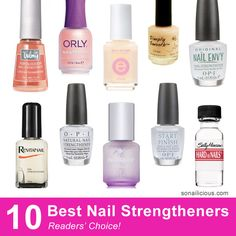 Yep, they really work! The 10 best nail strengtheners for all your nail needs: http://sonailicious.com/10-best-nail-strengtheners/