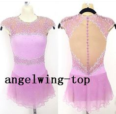 figure skating dress pink women competition skating dresses custom figure skating costumes girls skating clothing free shipping