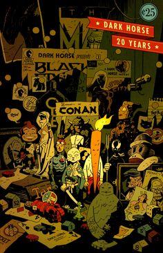 Pour le 20eme anniversaire de la maison d'édition Dark Horse - MiKE MIGNOLA -