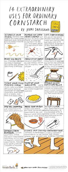 14 Extraordinary Uses for Ordinary Cornstarch