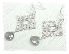 Silver Lace and Labradorite Briolette by VirginiaGeigerJewels, $25.00