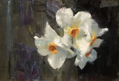 Scott Conary | Turner Fine Art | Jackson Hole, Wyoming Still Life Flowers, Love Flowers, White Flowers, Elements Of Nature, Your Paintings, Floral Paintings, Flower Art, Art Flowers, Daffodils