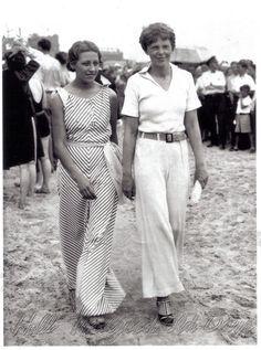 Amy Johnson and Amelia Earhart