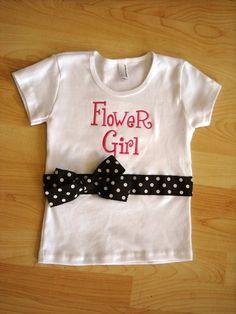 Flower girl shirt