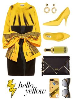 """#contest"" by jesuisjessyi ❤ liked on Polyvore featuring Moschino, PopsOfYellow and NYFWYellow"