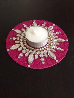Tealight candle holder, diya, diwali, gypsy decor, Boho room by CozMHappy